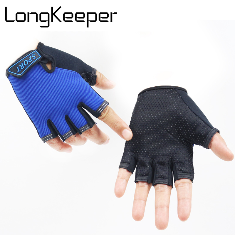 LongKeeper Hot Sale Gloves For Kids Semi-finger Children Outdoor Mittens Boys Girls fingerless Gloves 5-13 Years Guantes