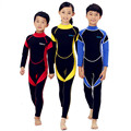 120628 2mm Neoprene Wetsuit for Kids Boy Girl Surfing Snorkling Scuba Diving Rear Zip One Piece Suits Children