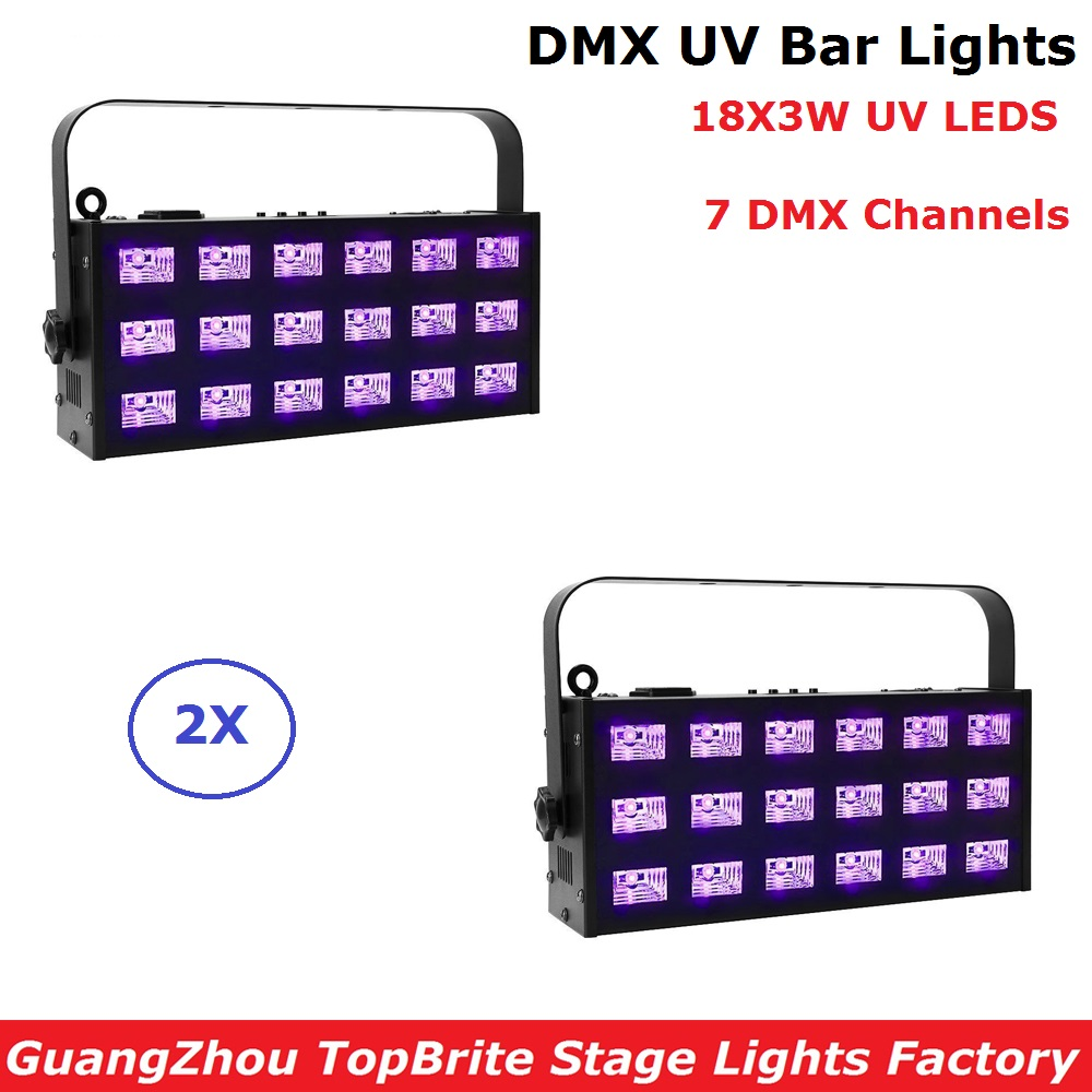 18LEDS 3W LED Wall Washer Lights DMX UV Stage Lights Bar Black Party Club Disco Light For Christmas Indoor Stage Effect Lights led uv color bar wall washer light 8x3w bar laser projection lighting party club disco light for christmas indoor stage lights