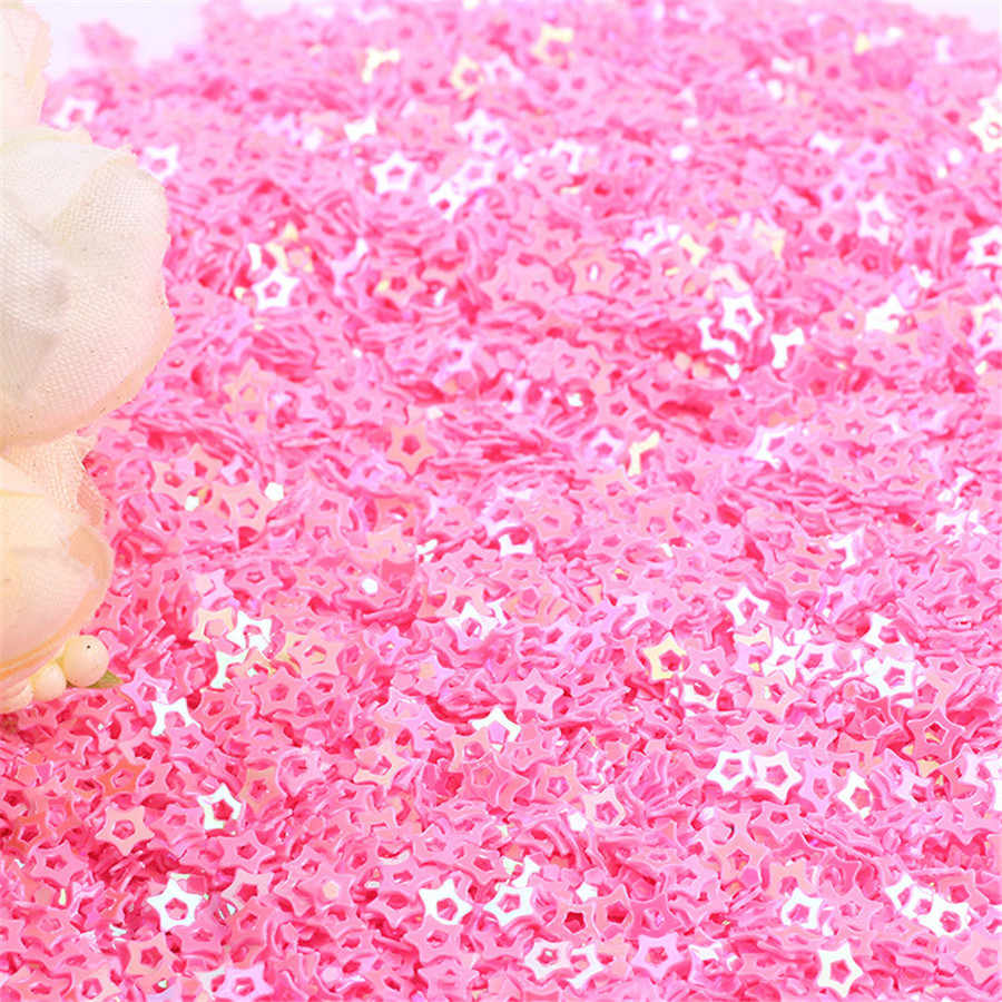 20g Multi Warna 4mm Jantung Bentuk PVC Payet Longgar Membuat Perhiasan Untuk Diy Perhiasan Kaca Bola Filler Confetti perhiasan Temuan