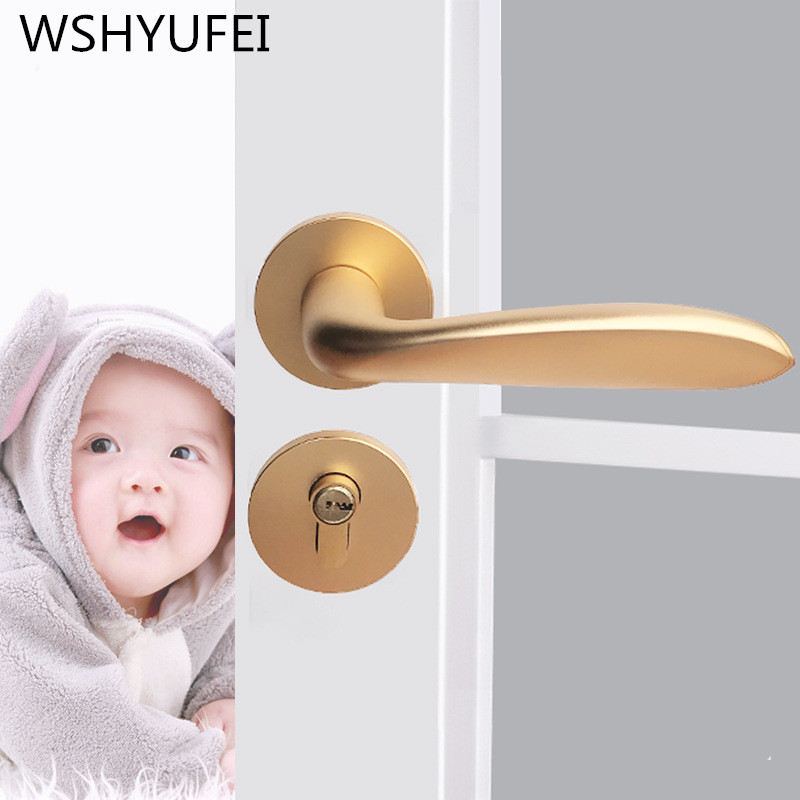 High quality zinc alloy mute door lock hardware accessories new house decoration Indoor lock