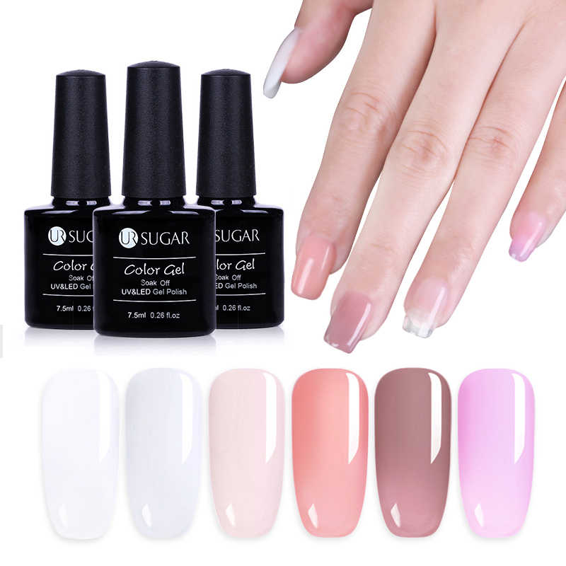 Ur Suiker 7.5 Ml Roze Wit Clear Gel Nail Uv Poly Builder Verlengen Gel Quick Nail Voor Gel Nagellak extension Gel