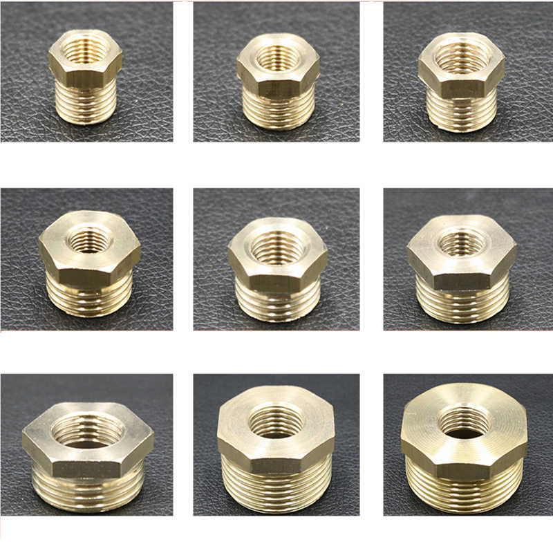 "1/8"" 1/4"" 3/8"" 1/2"" 3/4"" Male to Female Thread Brass Hose Reducing Bushing Copper Pipe Connectors"