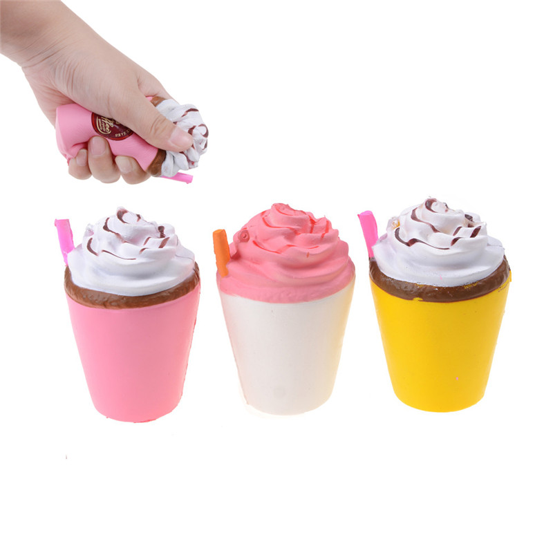 Slow Rising Squishy French Fries/Coffee Cup/Panda/Milk /Banana Donut Chocolate Noodles Roll Phone Charms Animal Antistress Toy