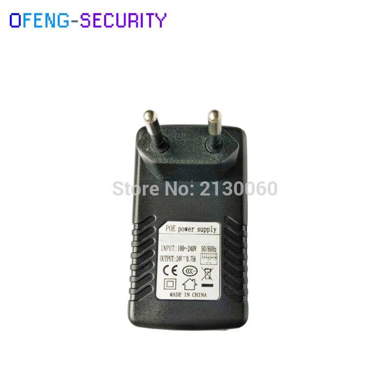 Poe Injector 24V0.75A POE Power Supply 24V0.75A Input 100-240V 50/60Hz Output 24V0.75A POE Pin4/5(+),7/8(-) For CCTV IPC