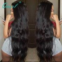 Qearl бразильский Синтетические волосы на кружеве человеческих волос парики для Для женщин Волосы remy естественные волнистые 24 26 28 inchs черный