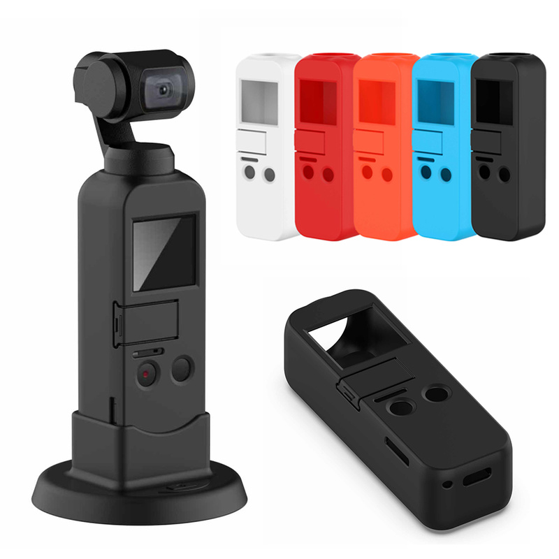 5 Color Soft Silicone Case Holder for DJI Osmo Pocket Handheld Camera Skid-proof Scratch-proof Dust-proof Accessories Protective