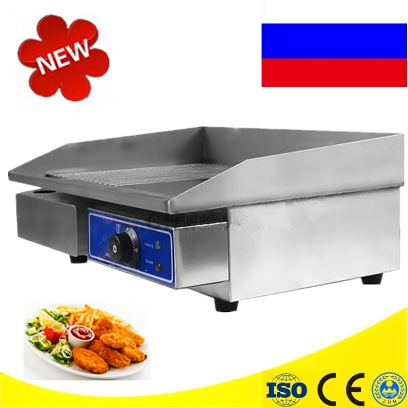 Commercial Stainless Steel Half Flat Pan Electric Griddles And Grooved Electric Griddle Grooved Electric Fried Pans flat pan rolled fried ice machine with double compressors