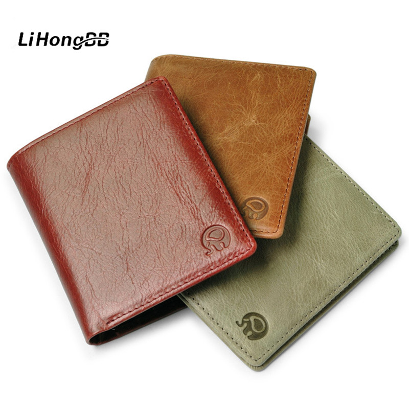 casual genuine leather wallet for men  women small thin