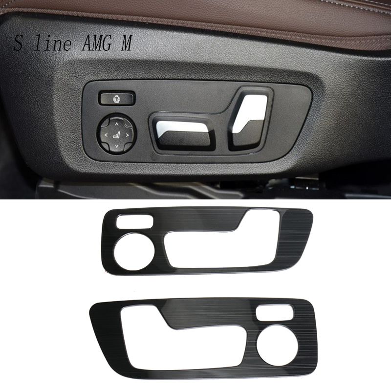 Car Styling Seat adjustment button Panel switch trim decoration Stickers cover Trim For <font><b>BMW</b></font> <font><b>X3</b></font> <font><b>G01</b></font> Interior Auto <font><b>accessories</b></font> LHD image
