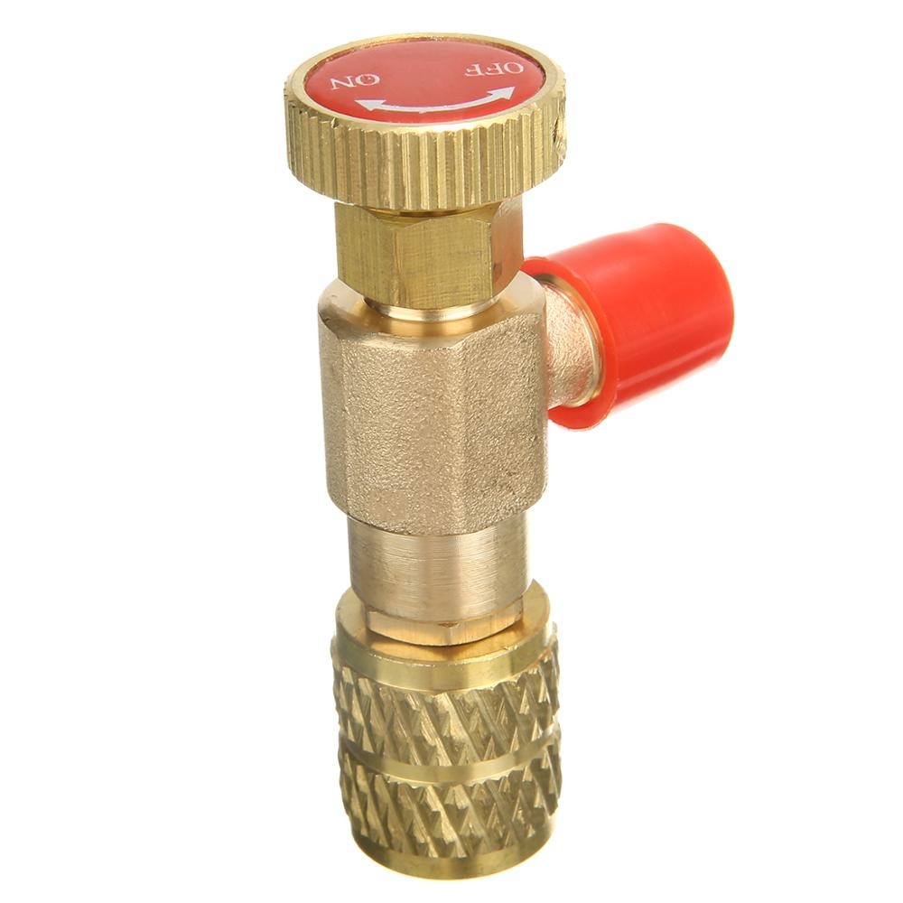 R410A Refrigeration Air Conditioning Valve Safety Adapter 1//4 SAE Male to 5//16 SAE Famale Charging Hose Valves R410A