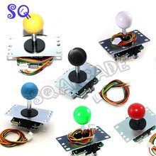 Sanwa original joystick JLF-TP-8YT-SK with 5-Pin Wiring Harness for Mad Catz Sf4 Mame Arcade Video Games(China)