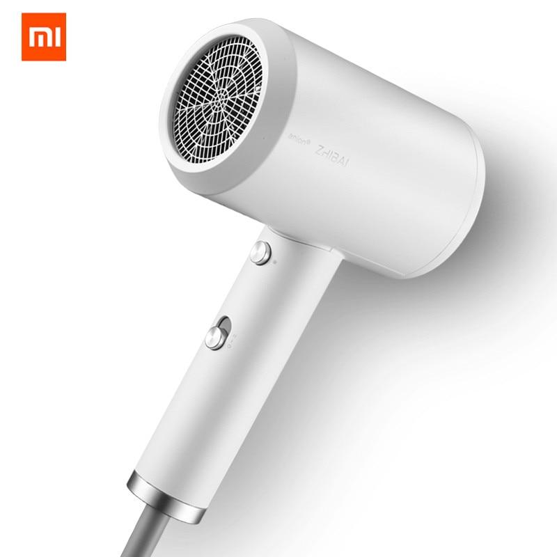Original Xiaomi Mijia Zhibai Hair Mi Dryer Mini Portable Anion HL3 1800W 2 Speed Temperature Mi Blow Dryer For Travel Home Kits