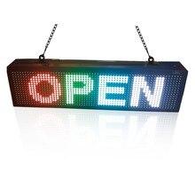 20 «X 6» Программируемый Прокрутка LED Радуга Сообщение Дисплей Для Магазина рекламы Знак Бизнеса