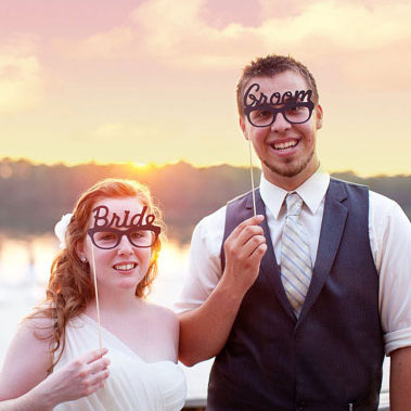 """Free Shipping! NEW 2Sets/Lot """" Bride &Groom and His &Hers"""" photo booth props"""