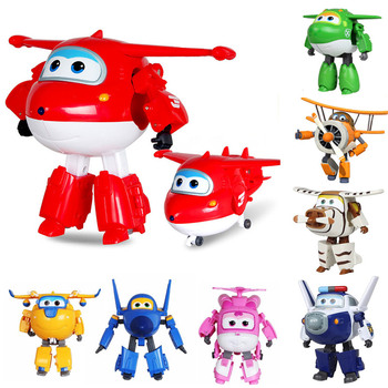 1pcs Robocar Robot Kids Toys Anime Action Figure Super Wings Toys For Children Playmobil Juguetes