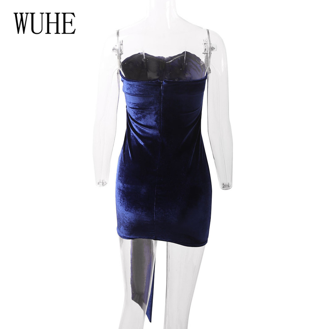 WUHE Off Shoulder Strapless Sexy Women Dress Sleeveless Hollow Out Bodycon Dress Lace up Casual Summer Party Club Dress Women in Dresses from Women 39 s Clothing