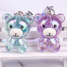 New Hot Sale Keychain Cute Jelly AB Color Bear Ladies Bag Pendant Car Ornaments Hanging Gifts