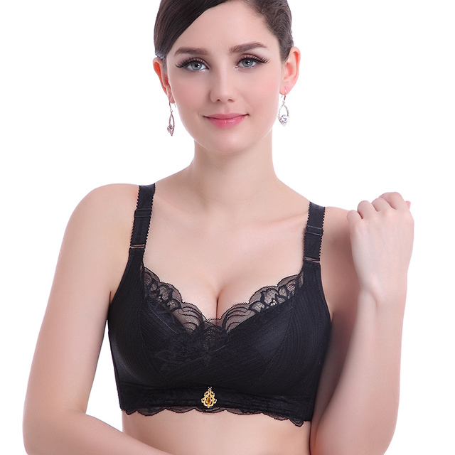 Hot Fashion Lingerie Women Lace Bra Sexy Brassiere Large Size Wireless Underwear Adjustable Push Up Thin Bralette Lady Bra