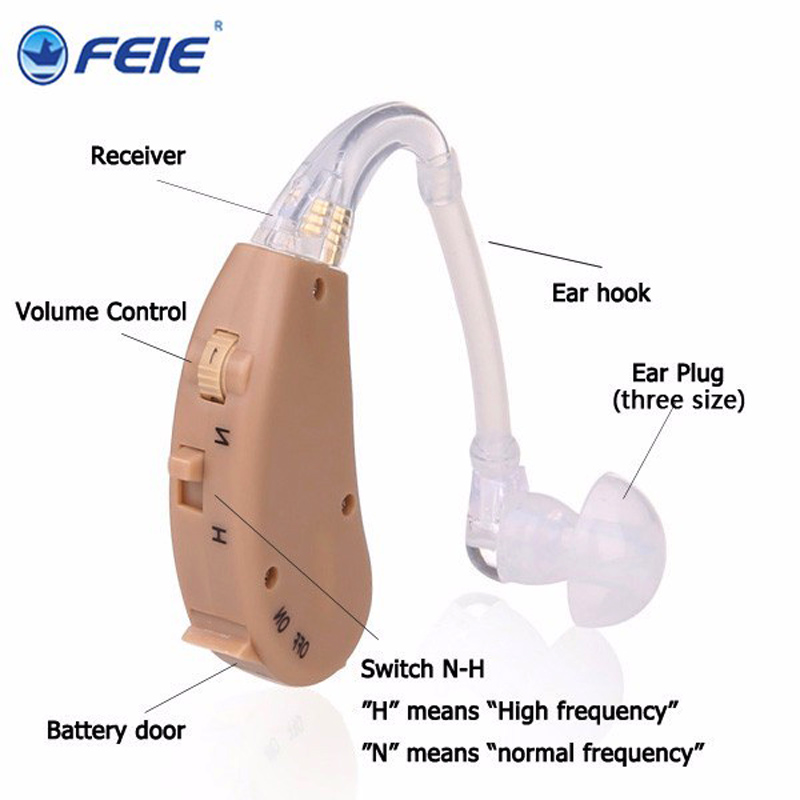 Feie medical Equipment analog BTE hearing aid S-268 listening machine Free Shipping bte headset hearing aids s 137 medical equipment sound voice amplifier for hearing impaired free shipping
