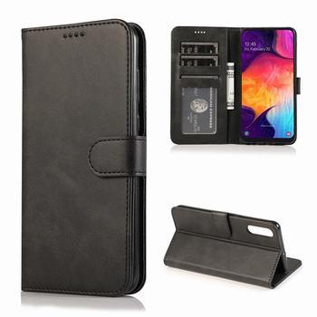 Galaxy A50 Leather Wallet Flip Case