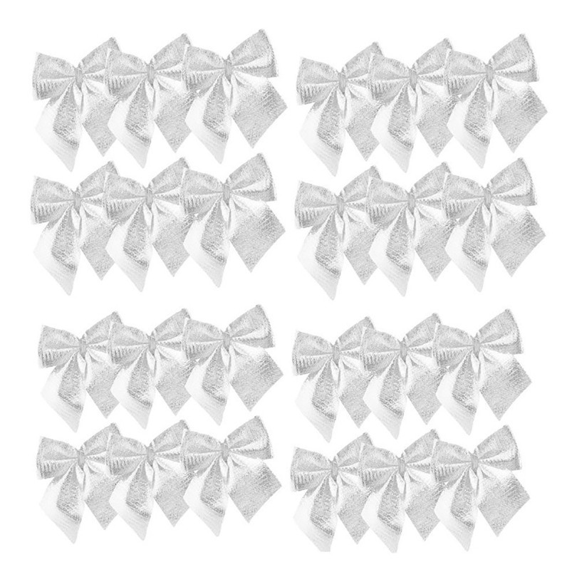 12PCS Pretty Bow Xmas Ornament Christmas Tree Decoration Festival Party Home Bowknots Baubles Baubles New Year Decoration06