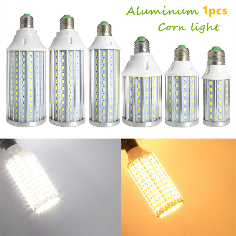 NO Flicker   E27 E14 E40 B22 15W 20W 25W 30W 40W  60W 80W LED Corn Light  5730SMD AC 85V-265V Aluminum Cooling High Power Bulb