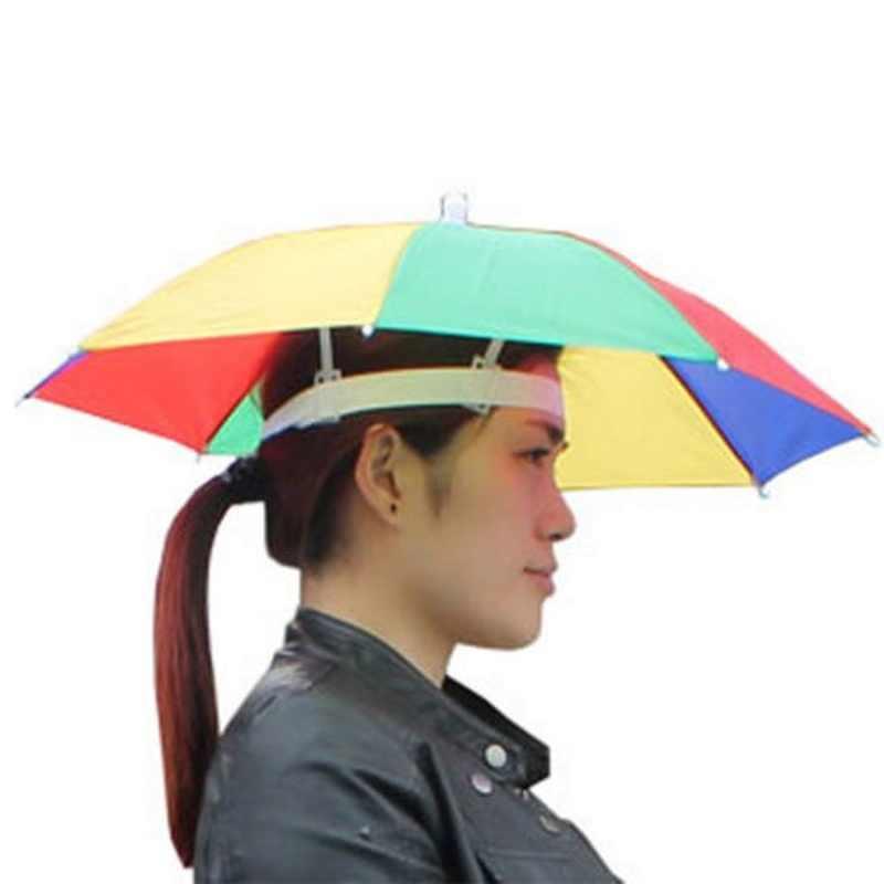 2019 في الهواء الطلق طوي مظلة واقية من الشمس قبعة جولف التخييم أغطية الرأس كاب 5 ألوان رئيس قبعة الصيد أداة فتح حجم 55 سنتيمتر