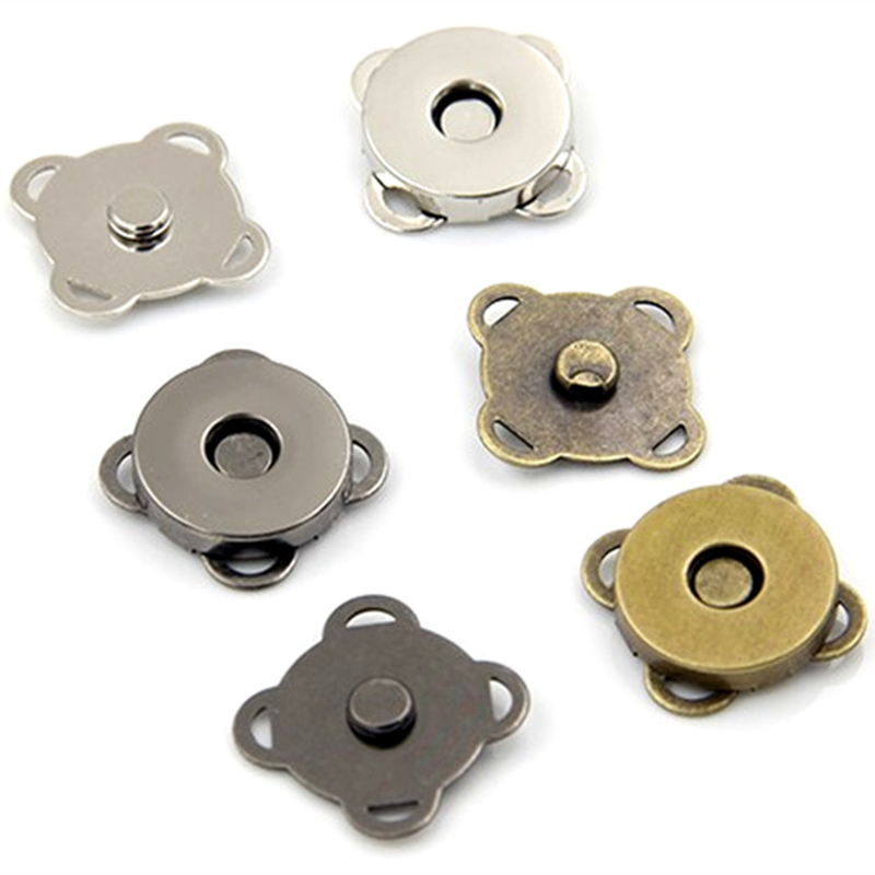 Nº50 Pcs Magnetique Boucle Fermoir Fleur De Prunier Fleur En Metal D