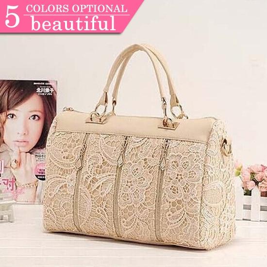 New Arrival 2015 Lady Elegant Spring Summer Princess Lace Fashion Women's Handbag Women Cross-body PU Leather Messenger Bag