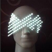 Лидер продаж подсветкой Очки Halloween Party Маска Light Up очки для DJ Club сценического шоу Праздничный праздничные атрибуты