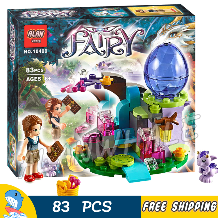83pcs New Emily the Baby Wind Dragon 10499 Building Brick Blocks Gifts Kit Playset Children Toys Compatible With lego Elves 694pcs 10504 new the secret market place building brick blocks model gifts kit playset children toys compatible with lego elves