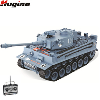 RC Tank US German Tiger 101 Large Can Launch Bullet Military Truck 1:20 Over Size Simulation Tank Children's Toys Model Gifts