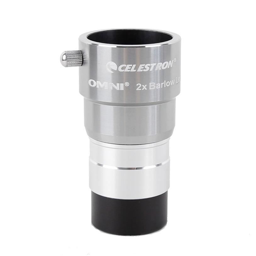 Окуляр Celestron omni 2x barlow с увеличением, профессиональный телескоп с кулоном, астрономические окуляры