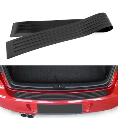 Car Rubber Rear Guard Bumper Protector Trim Cover car sticker plate for Skoda rapid a5 a7 YETI Superb Citigo Fabia car styling cover detector stainless steel inner built rear bumper protector trim plate pedal 1pcs for su6aru outback 2015