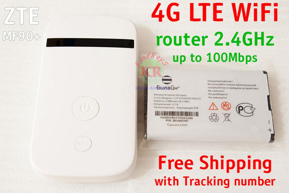 Unlocked zte MF90 MiFi 4g lte wifi Router LTE 3g 4g router lte 4g wireless router mobile wifi pocket wifi 4g mobile mf90+ mf95 цена
