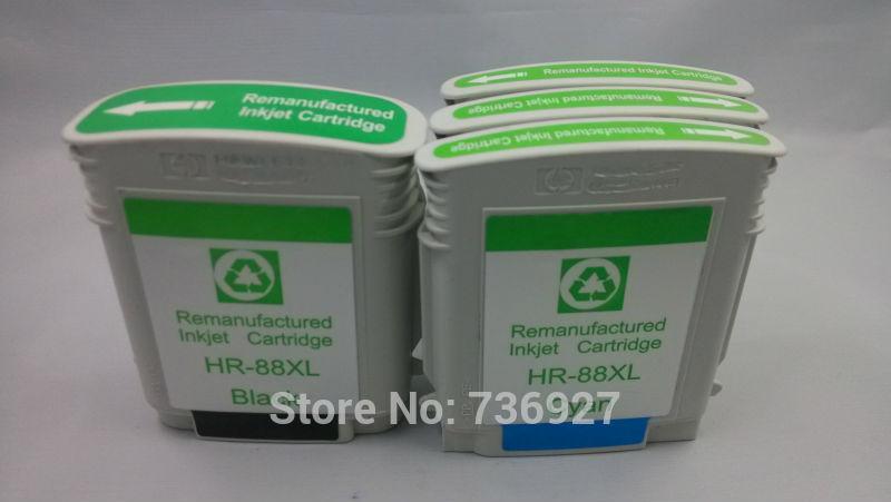 4 stücke tintenpatrone kompatibel für hp 88/88xl officejet pro k550 k5400 k8600...