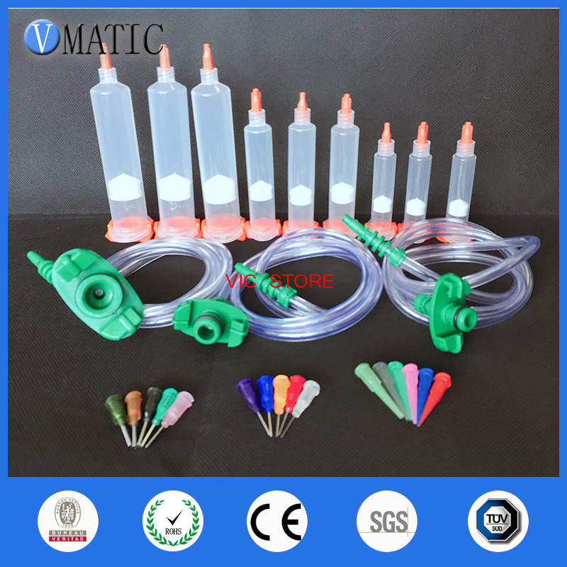 Free Shipping Glue Adhesive Dispensing Disposable Pneumatic Syringe Set With Cap/End Cover/ Glue Dispenser Needle Free Shipping Glue Adhesive Dispensing Disposable Pneumatic Syringe Set With Cap/End Cover/ Glue Dispenser Needle