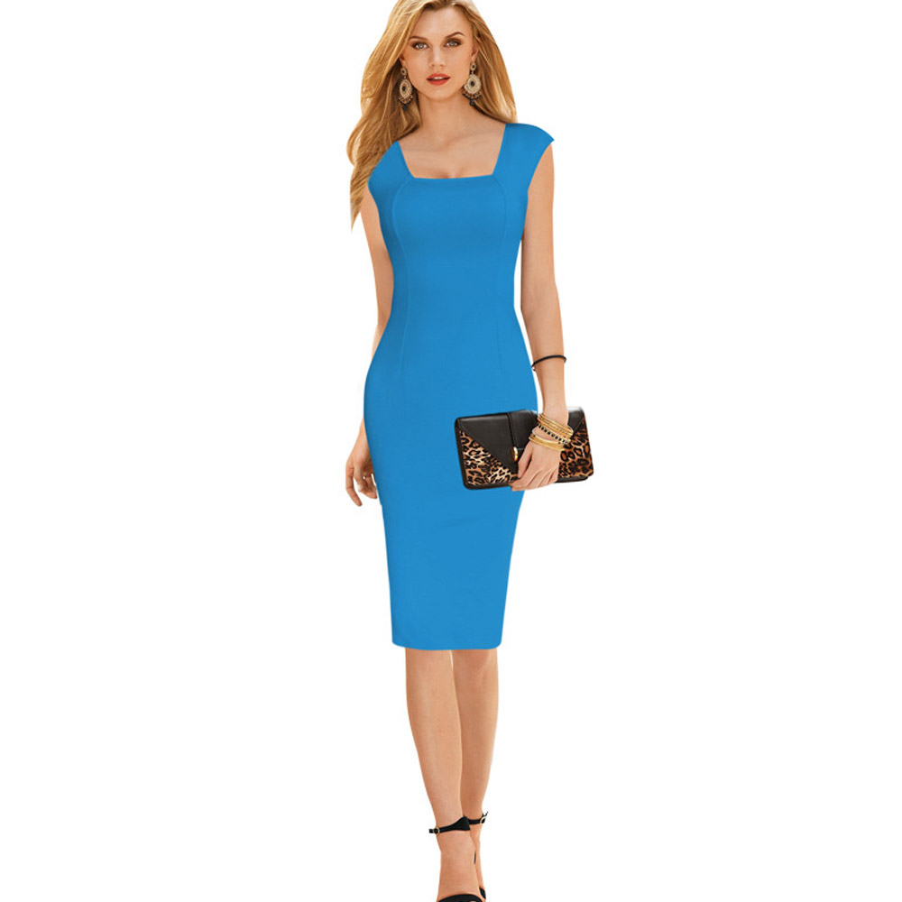 Free Shipping Bright Color Sexy Mid Calf Summer Dress Size Available ...
