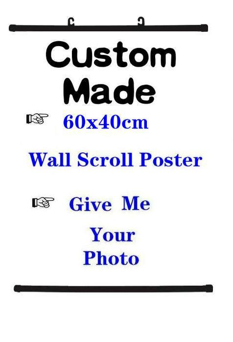 Wall fabric Scroll Poster Custom Made home decor anime posters 60x40cm 100x40cm 150x50cm