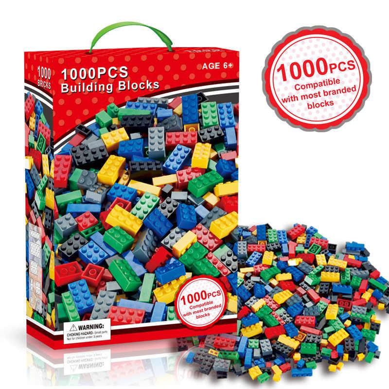 Blocos 1000 pçs compatível legoinglys tijolos designer criativo clássico diy blocos de construção conjuntos brinquedos educativos para crianças