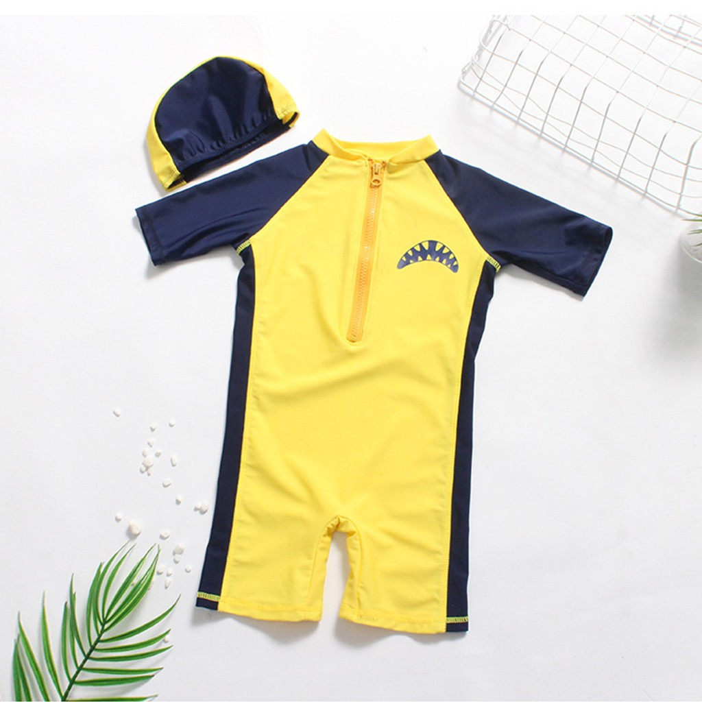 Clothing Sets Cheap Price Cotton Summer Beach Fashion Children Sets For Boys O-neck Regular Short Sleeve Patchwork Swimsuit Boys' Clothing Hat Kids Outfits For Boys Products Are Sold Without Limitations