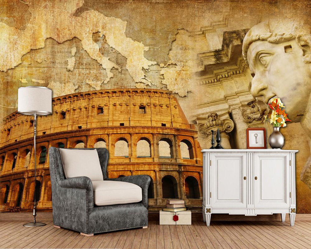Great Roman Empire Retro 3d Wallpaper,living Room Tv Wall Bedroom Wall Papers Home Decor Restaurant Cafe Bar Custom Mural