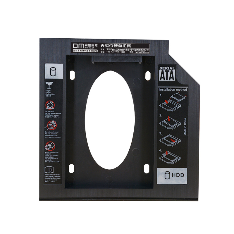 DM DW95 HDD Caddy 9.5mm Plastic Optibay SATA 3.0 Hard Disk Drive Box Enclosure DVD Adapter 2.5 SSD 2TB For Laptop CD-ROM