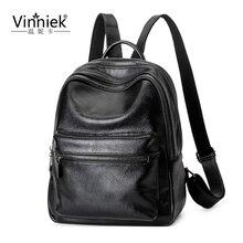 Vinniek женщины рюкзак путешествия высокое качество PU кожа рюкзак школьные сумки для девочек-подростков сумка Mochila Mujer