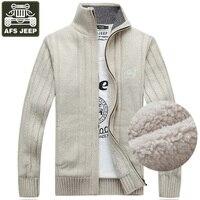 Brand Sweater Men Cardigan Male Fleece Standard Wool Sweater Men Pull Homme Cardigan Men Fashion Outwear Coats Size 3XL