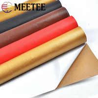 50*69cm simili cuir tissu couleur unie daim synthétique auto-adhésif cuir tissu Patch adhésif en cuir de Simulation