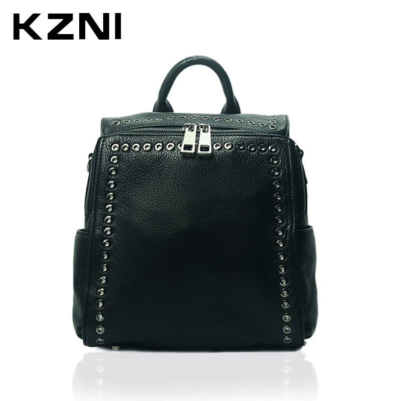 KZNI Genuine Leather Purse Crossbody Shoulder Women Bag Female Backpack Sac a Main Femme De Marque 1391 kzni genuine leather purse crossbody shoulder women bag clutch female handbags sac a main femme de marque l121011
