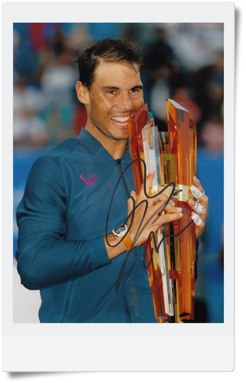 signed Rafael Nadal  autographed  original photo 7 inches freeshipping 062017 B signed haruki murakami autographed original photo 7 inches freeshipping 062017