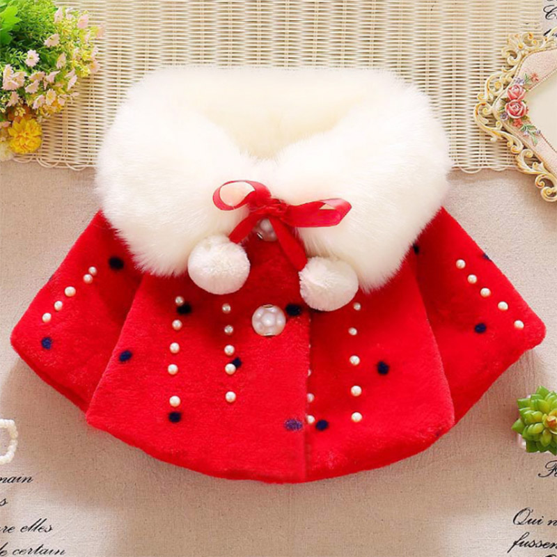 Winter warm thick velvet jacket for baby girls coat princess jackets (8)